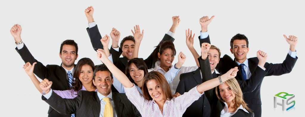 business-people-cheering